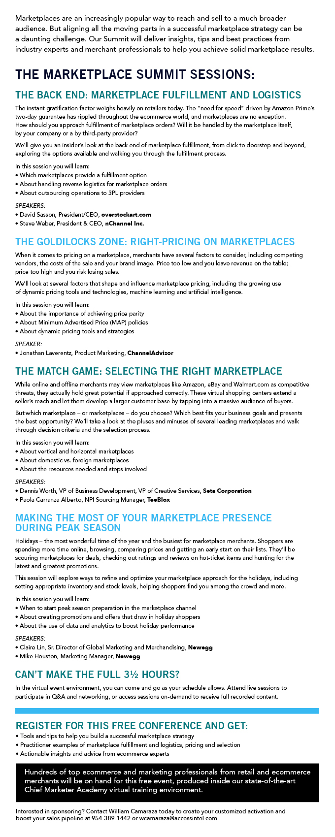 Marketplace Summit Virtual Event